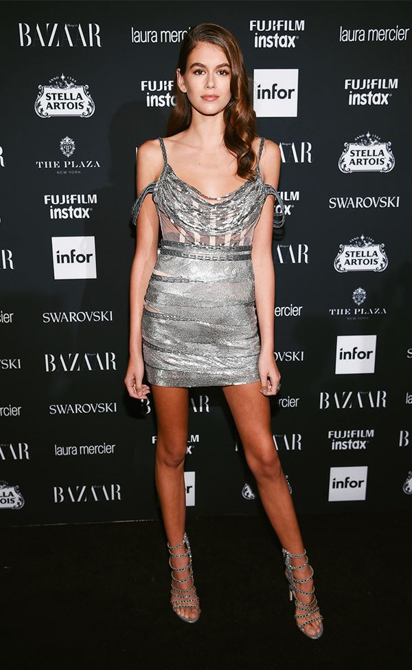 WHO: Kaia Gerber  WHAT: Harper's Bazaar ICONS party