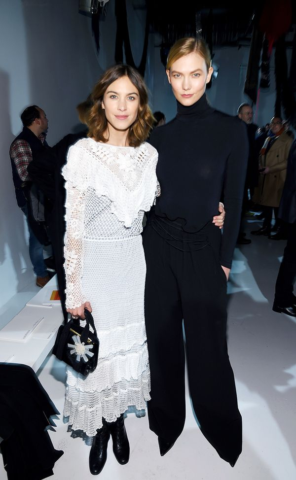 WHO: Alexa Chung and Karlie Kloss WHAT: Calvin Klein S/S 18 show