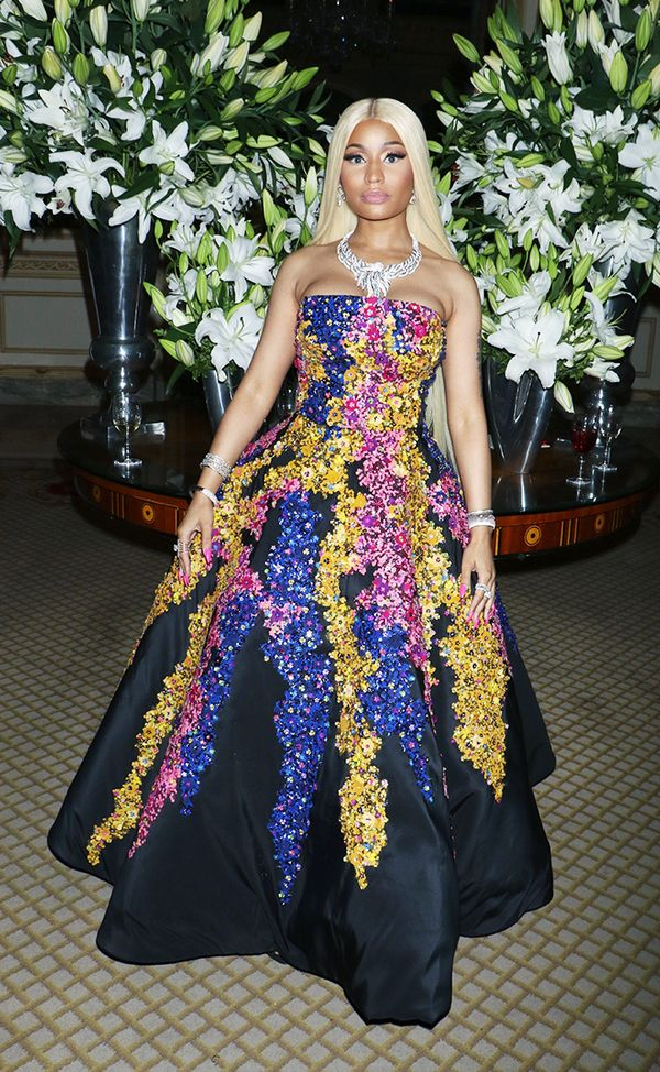 WHO: Nicki Minaj  WHAT: Harper's Bazaar ICONS party