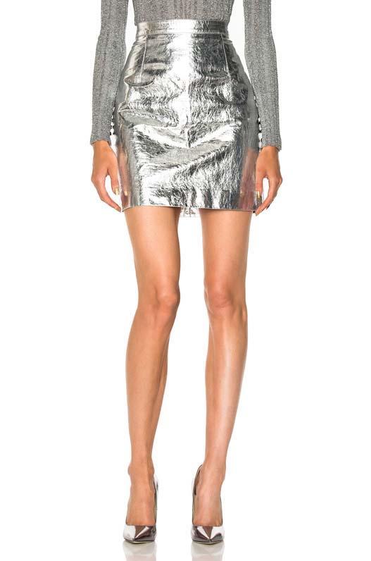 Proenza Schouler Metallic Leather Mini Skirt
