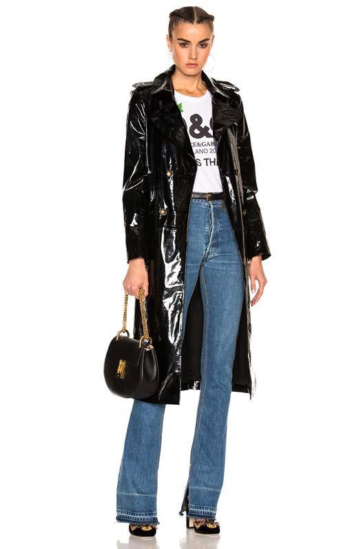 Patent Leather Trenchcoat