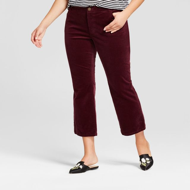 Who What Wear Cropped Flare Cord Pants