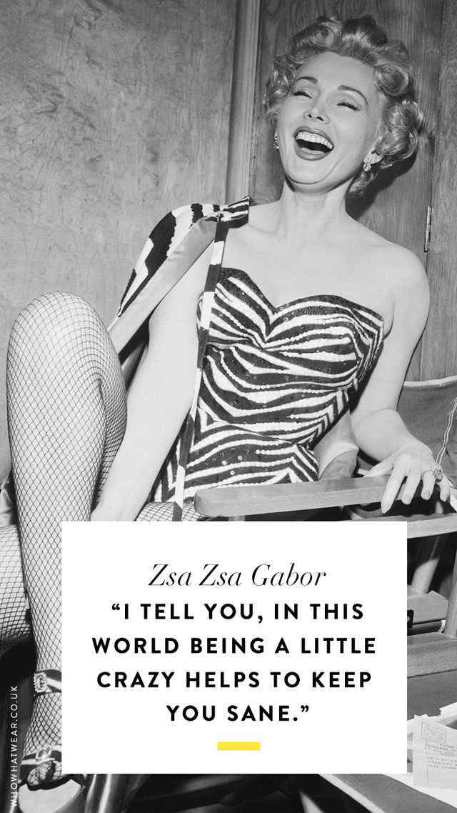 Zsa Zsa Gabor Quotes Unique The Best Zsa Zsa Gabor Quotes Of All Time  Whowhatwear