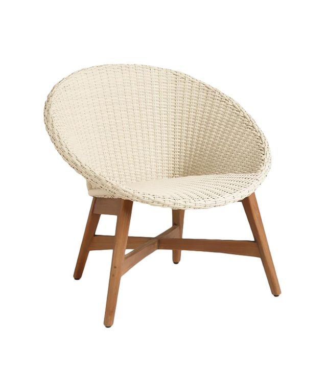 Round All Weather Wicker Vernazza Chairs Set of 2: White - Resin by World Market