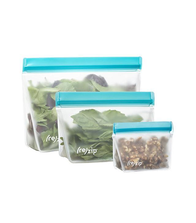 Rezip 3-Piece Stand-Up Leakproof Reusable Storage Bag Kit