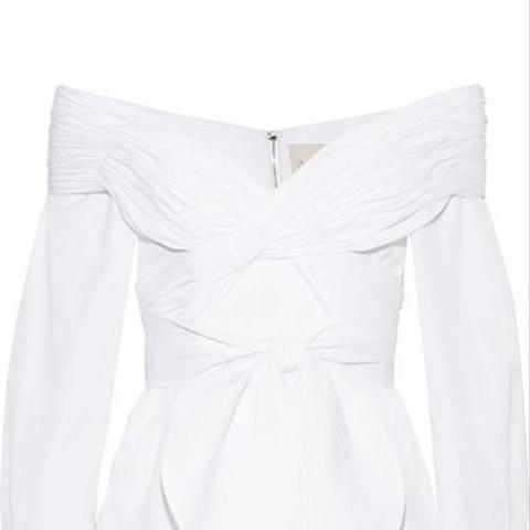 Jandra Off-the-shoulder Cotton-Poplin Top