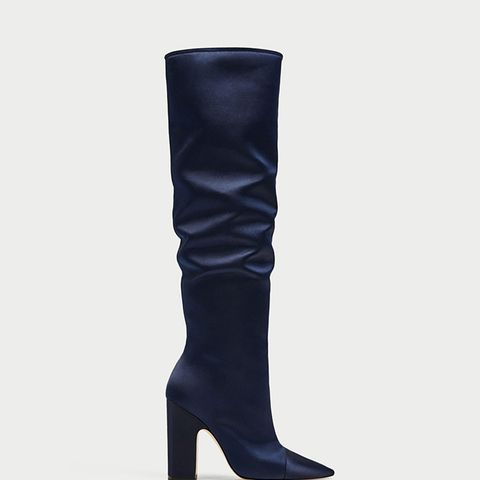 Sateen High Heel Boots