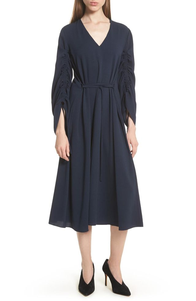Convertible Sleeve Midi Dress