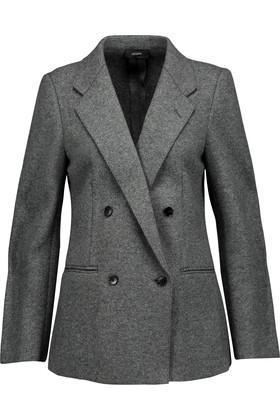 - Blazz Marled Wool-blend Blazer - Gray