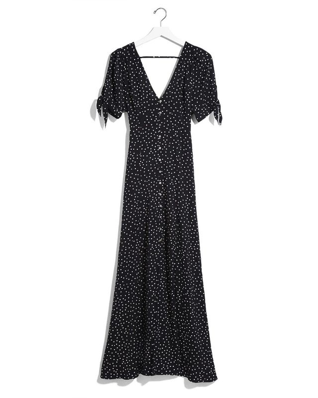 Womens Karlie Kloss Dot Print Maxi Dress
