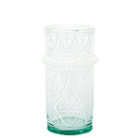Petite Moroccan Glass in White