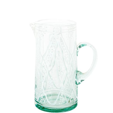 Petit Glass Pitcher in White