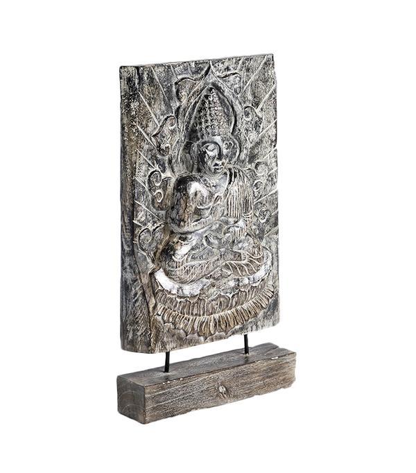 Wood Meditating Buddha on Stand by World Market