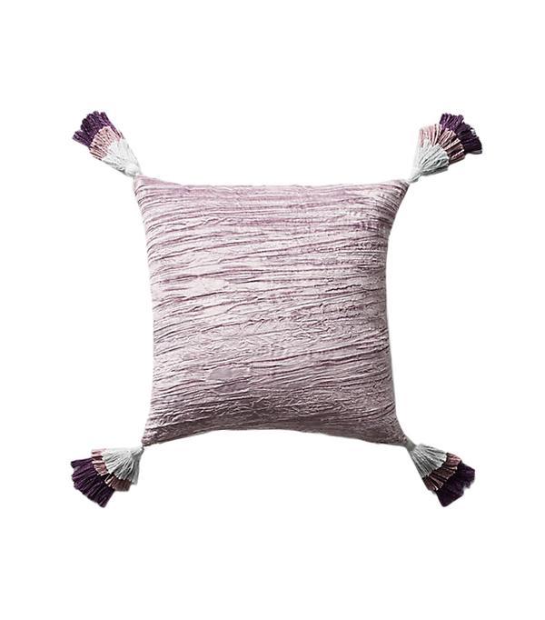 Tasseled Velvet Pillow