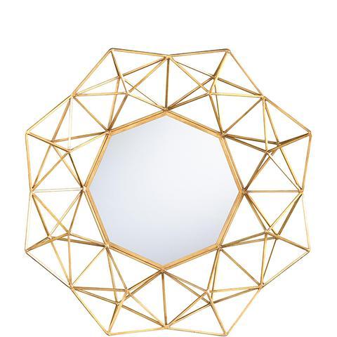 Gold Geometric Danyel Mirror