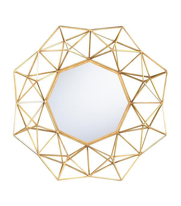 Gold Geometric Danyel Mirror by World Market