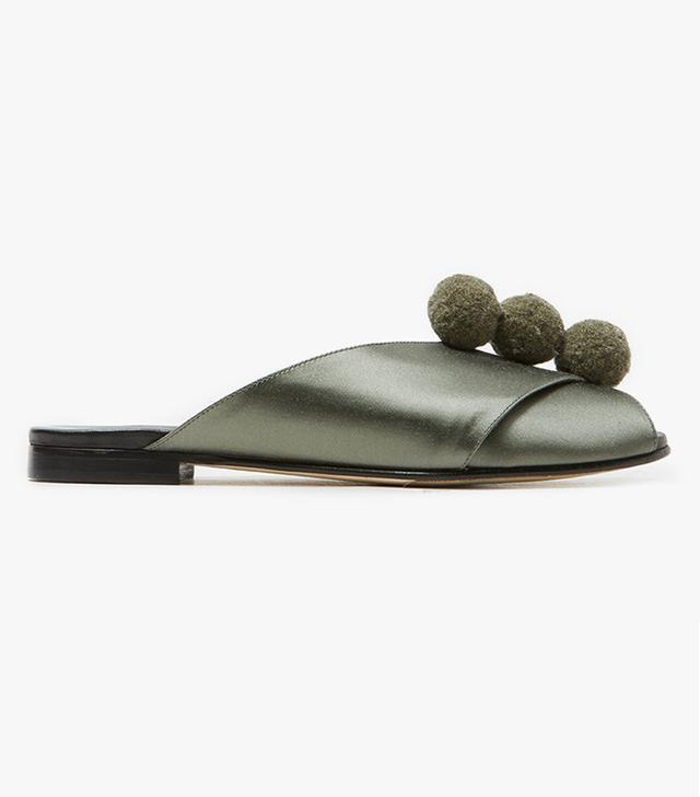 Trademark Pompom Sandal in Sage
