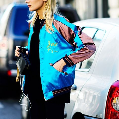 Embroidered Bomber Jackets: Retro colour combinations work well