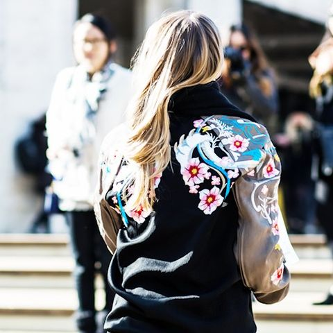 Embroidered Bomber Jackets: Detailing on the back is always a winner