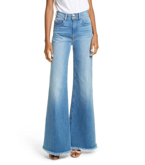 Women's Frame Le Palazzo High Waist Raw Edge Jeans