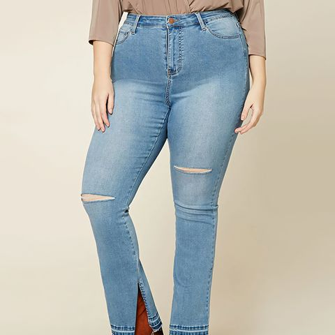 Plus Size Mid-Rise Flared Jeans