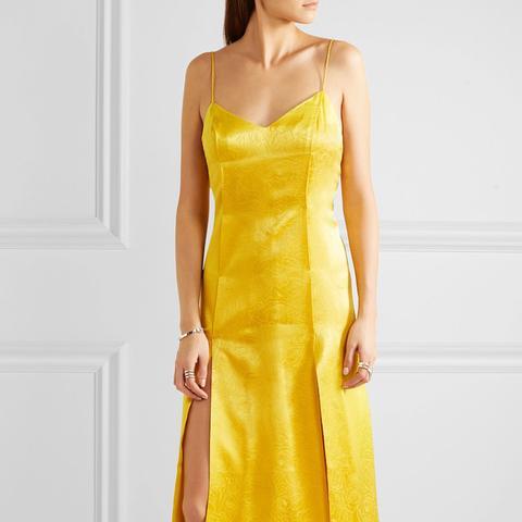 Fl Fatale Silk Jacquard Dress