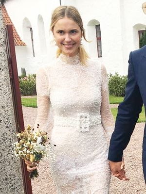 "You Have to See This Danish Blogger's Gorgeous ""Naked"" Wedding Dress"