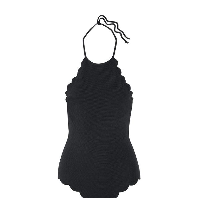 Mott Scalloped Halterneck Swimsuit