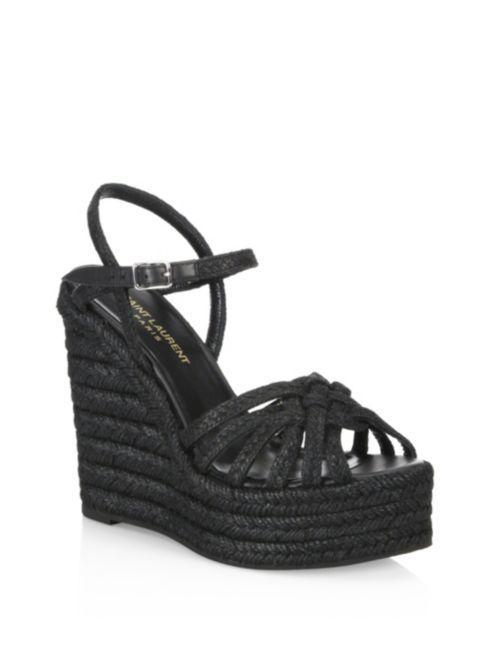 Woven Espadrille Wedge Sandals