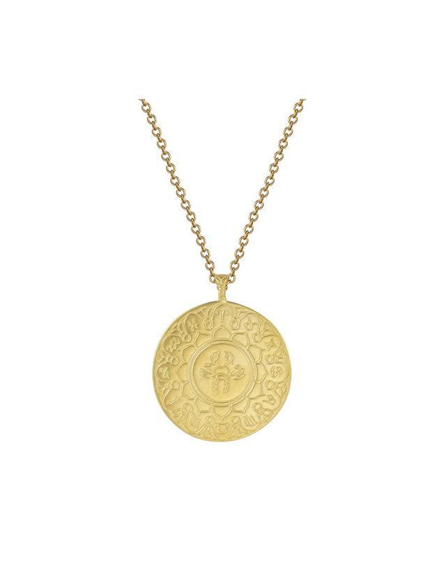 Me&Ro 18K Gold Large Cancer Astrology Pendant