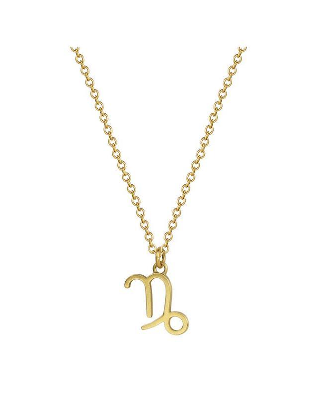 Me&Ro 18-Karat Gold Capricorn Symbol Pendant