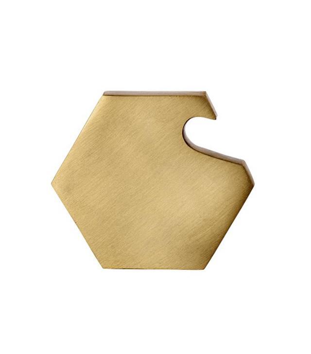 Ferm Living Brass Hexagon Bottle Opener
