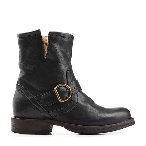 Fur Lined Leather Ankle Boots