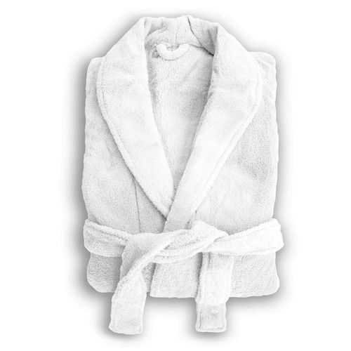 Solid Hydrocotton Robe With Piping