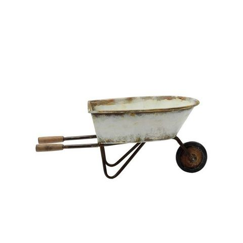 Decorative Metal Wheel Barrow