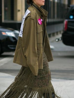 Here's What the Blue Ribbons All Over New York Fashion Week Mean