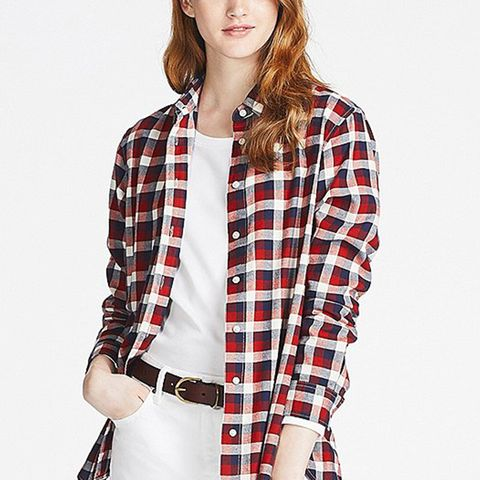 Women's Flannel Checked Long-sleeve Shirt