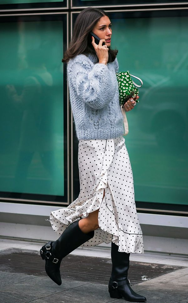How to wear polka dots: Diletta Bonaiuti