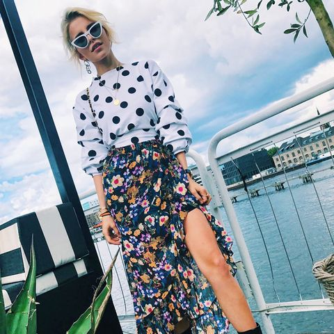 how to wear polka dots: Caroline Daur