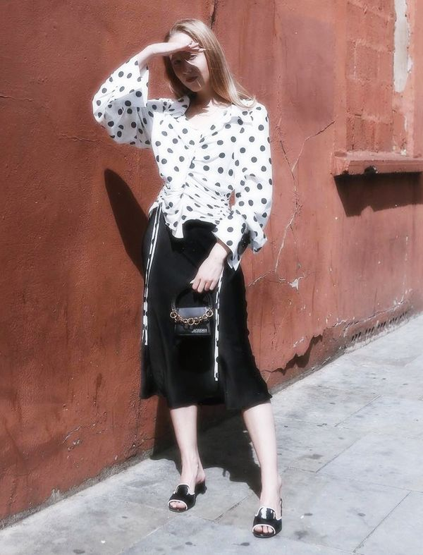 how to wear polka dots: Alice Zielasko