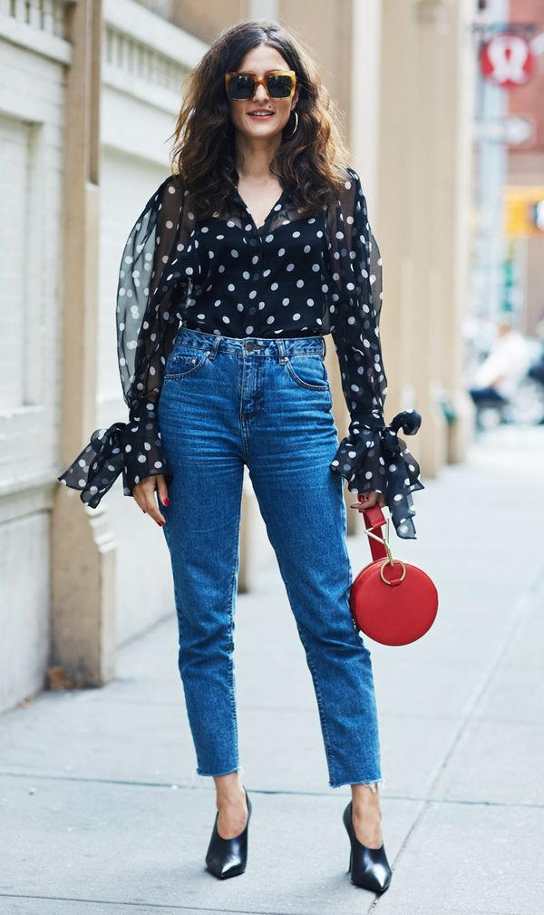 how to wear polka dots: