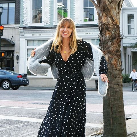 how to wear polka dots: Ganni dress