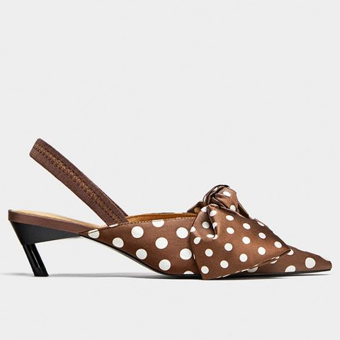 Polka Dot Slingbacks