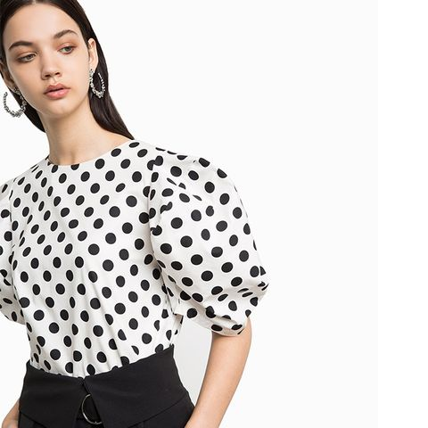 Roma Dot Puffy Top
