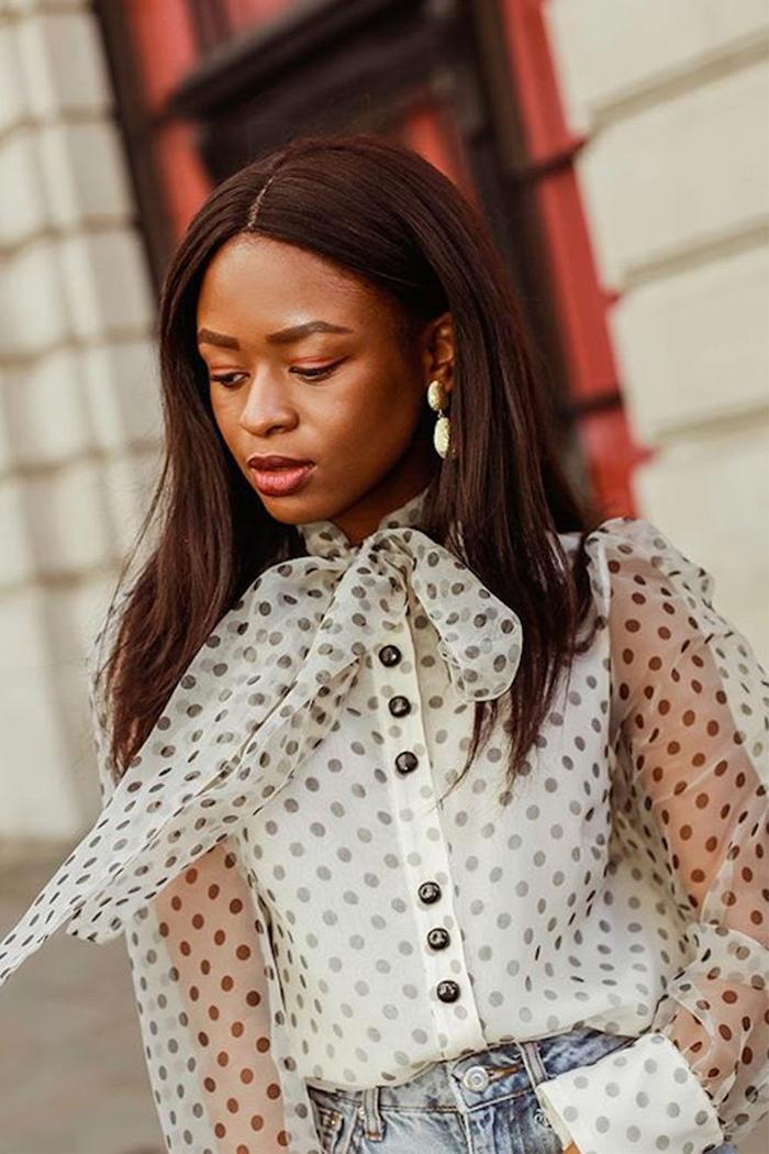 Best Polka Dots: Enis wearing Zara blouse