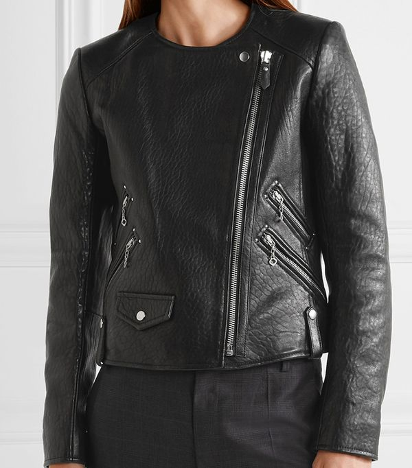 Kankara Textured-leather Jacket