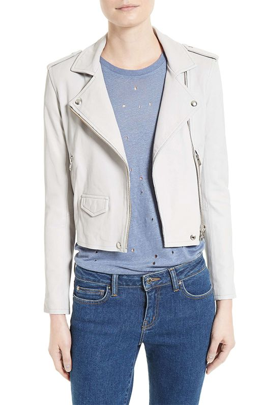 Women's Iro 'Ashville' Lambskin Leather Moto Jacket