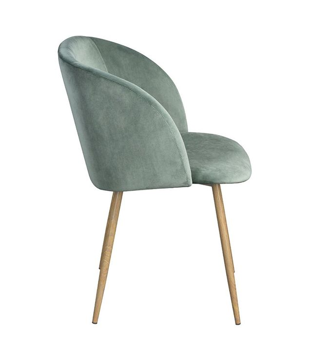 Modern Retro Silky Velvet Living Room Accent Arm Chair