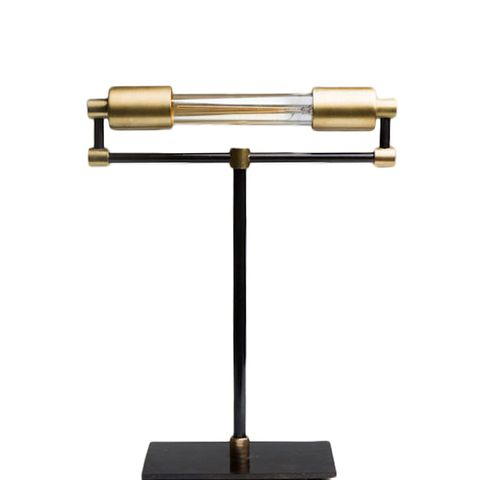 Electric T Bankers Brass Desk Lamp