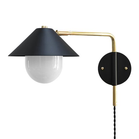 Modern Brass Swing Arm Sconce